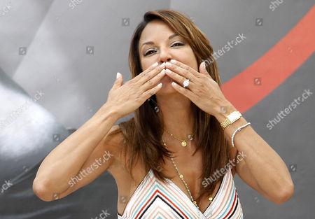 Us Actress Eva La Rue Cast Member of the Tv Series 'Csi: Miami ' Poses During a Photocall at the Monte Carlo Television Festival in Monaco 13 June 2012 Monaco Monte Carlo