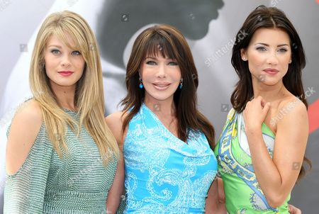 Us Actresses Kim Matula (l-r) and Hunter Tylo and Canadian Actress Jacqueline Macinnes Wood of the Tv Series 'The Bold and the Beautiful' Pose During a Photocall at the Monte Carlo Television Festival in Monaco 12 June 2012 Monaco Monte Carlo