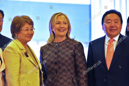Editorial image of Mongolia Hillary Clinton - Jul 2012