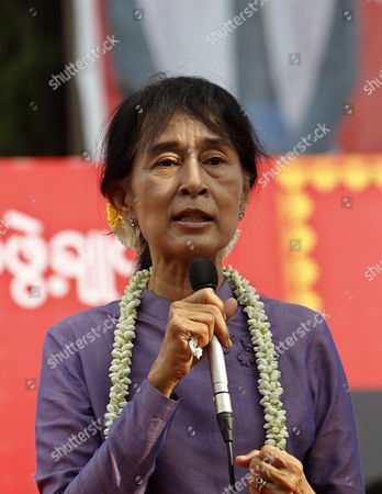 Editorial picture of Myanmar Parties Aung San Suu Kyi - May 2012