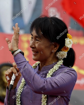 Editorial photo of Myanmar Parties Aung San Suu Kyi - May 2012