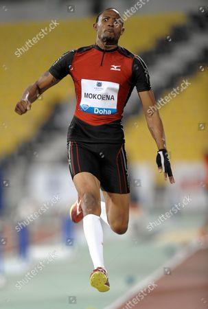 Stock Photo of Godfrey Mokoena of South Africa Jumps During the Long Jump Men's at the Iaaf Diamond League Meeting in Doha Qatar on 11 May 2012 Qatar Doha