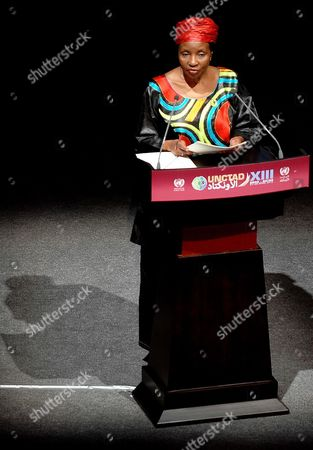 Stock Image of Un Deputy Secretary General Asha Rose Migiro Speaks During the Opening Ceremony of the 13th Session of the United Nations Conference on Trade and Development (unctad13) at Qatar National Convention Centre Doha-qatar Qatar 21 April 2012 Qatar Doha