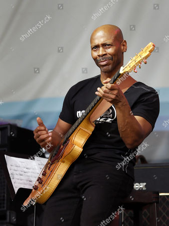 Us Jazz Guitarist and Composer Kevin Eubanks Performs with Dave Holland Prism Jazz Band During the 16th Edition of Garana Jazz Festival 2012 in Garana Village (wolfsberg) Romania Late 14 July 2012 Garana Jazz Festival Takes Place Annually in the Wild Surroundings of Semenic Mountain Foot Western Romania the Festival Runs Until 15 July Romania Garina