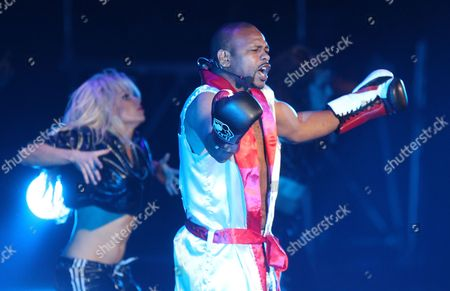 Usa Boxer Roy Jones Jr Performs with His Song Before the Fight For the Interim Wba Cruiserweight Title Between Russian Title Holder Denis Lebedev and Shawn Cox of Barbados in Moscow Russia Late 04 April 2012 Lebedev Retain His Title by a Knock out in Second Round Russian Federation Moscow
