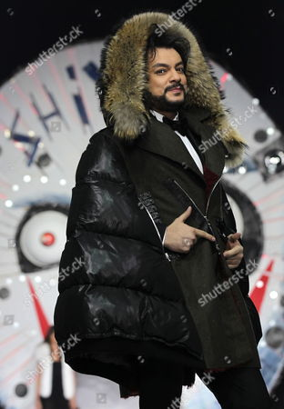 Russian Singer Philipp Kirkorov Displays a Creation by Russian Fashion Designer Shiyan During the Volvo Fashion Week in Moscow Russia 06 April 2012 Russian Federation Moscow