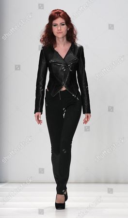 Former Russian Spy Anna Chapman Displays a Creation by French Designers Group i Love Fashion During the Mercedes-benz Fashion Week in Moscow Russia 22 March 2012 the Fashion Week Runs From 21 to 25 March Russian Federation Moscow