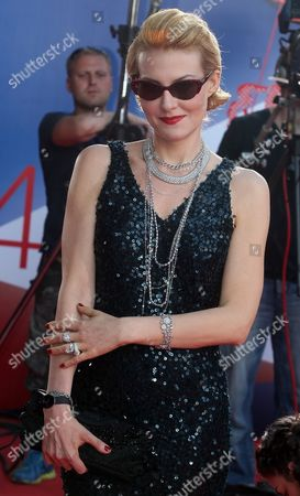 Russian Actress Renata Litvinova Poses For Photographers As She Arrives For the Opening Ceremony of the 34th Moscow Film Festival at 'Oktyabr' Concert Hall in Moscow Russia 21 June 2012 the Festival Runs From 21 to 30 June Russian Federation Moscow