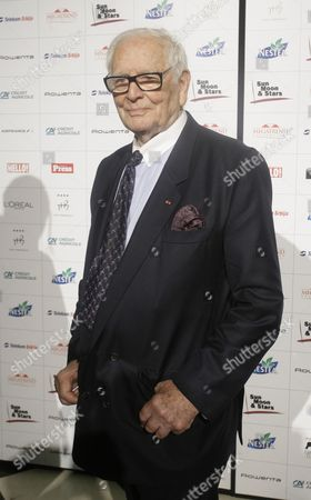 French Designer Pierre Cardin (89) After He Presented a New Haute Couture Collection in the Palace of Serbia's Crown Prince Aleksandar Ii Karadjordjevic in Belgrade Serbia 09 June 2012 Serbia and Montenegro Belgrade