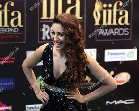 Bollywood Actress Gauhar Khan Poses on the Green Carpet During Indian International Film Awards Iifa Rocks Fashion Night in Singapore 08 June 2012 the 13th Iifa Awards Often Referred to As the Bollywood Oscars Celebrates the International Nature of Indian Cinema and is Held in a Different Country Each Year Singapore Singapore