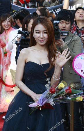 South Korean Actress Yoo In-na Arrives For the 48th Annual Paeksang Art Awards at the Olympic Park Olympic Hall in Seoul South Korea 26 April 2012 Korea, Republic of Seoul