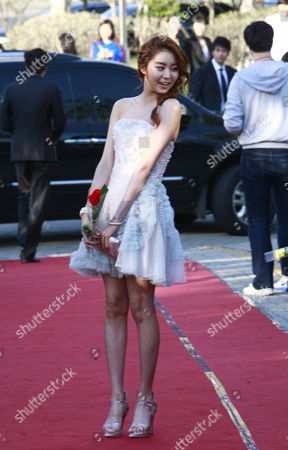 South Korean Actress and Member of the Band 'After School' Kim Yu-jin Arrives For the 48th Annual Paeksang Art Awards at the Olympic Park Olympic Hall in Seoul South Korea 26 April 2012 Korea, Republic of Seoul