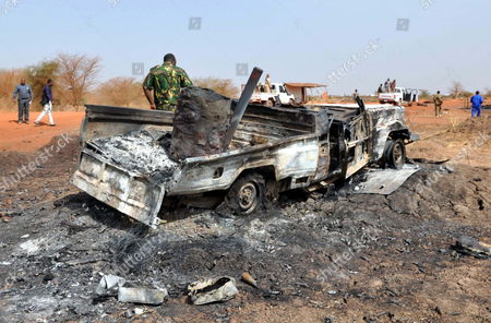 A Destroyed Vehicle is Seen Following Clashes Between Sudanese and South Sudan's Forces in the Border Oil-rich City of Heglig Sudan 28 March 2012 According to Reports Clashes Erupted on 26 March Around Oil Fields That Are Claimed by the Sudanese Government the Chairperson of the Commission of the African Union Jean Ping on 27 March Expressed His Deep Concern Over the Escalating Security Situation Along the Border Between Sudan and South Sudan Sudan Heglig