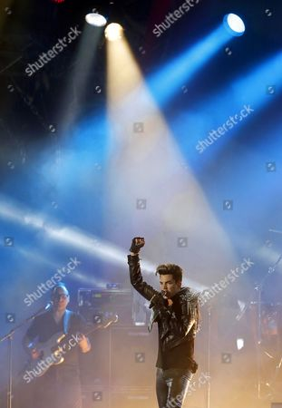 Us Singer Adam Lambert of British Rock Band Queen Performs at the Uefa Euro 2012 Fan Zone During a Grand Charity Concert Dedicated to the Fight Against Hiv/aids in Kiev Ukraine 30 June 2012 Ukrainian Elena Pinchuk Antiaids Foundation As Well As Colleagues in Fighting Aids Legendary Stars Elton John and Queen with Adam Lambert Organized a Charity Concert in Kiev to Say: 'Your Life is not a Game! Let's Stop Aids Together' Ukraine Kiev