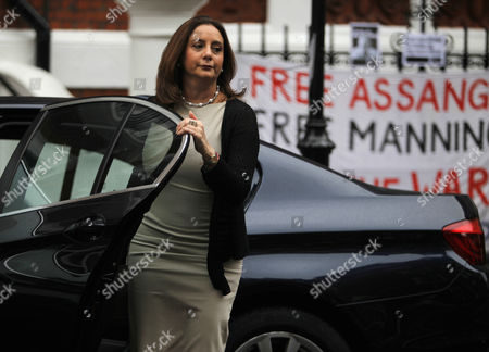 The Ecuador Ambassador to London Ana Alban Arrives Outside Her Embassy where Wikileaks Founder Has Sought Political Asylum in London 21 June 2012 Assange Has Requested Asylum in Ecuador the South American Country's Foreign Minister Ricardo Patino Confirmed Adding That 'Ecuador is Assessing and Evaluating This Request a Decision is Expected to Be Made During the Course of the Day United Kingdom London