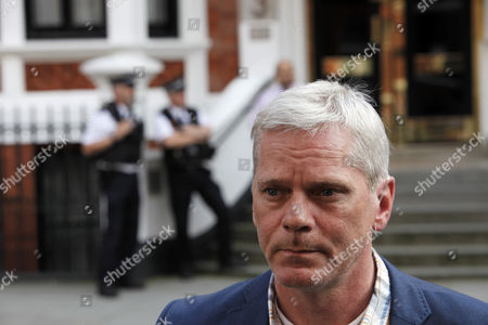 Wikileaks Spokesperson Kristinn Hransfsonn Stands Outside the Ecuador Embassy where Wikileaks Founder Has Sought Political Asylum in London Britain 20 June 2012 the Legal Battle Against Extradition by Julian Assange Took a Further Twist As the Wikileaks Founder Sought Refuge in the Ecuadorean Embassy in London While Being Threatened with Arrest by Police Assange 40 Faces Extradition to Sweden on Allegations of Sexual Assault After Britain's Supreme Court Rejected His Final Appeal Last Week a 10-day Period of Extradition Begins on June 28 His Arrival at the Embassy was Confirmed Late Tuesday by Ricardo Patino Ecuador's Foreign Minister in Quito He Said Assange an Australian Citizen Had Requested Political Asylum United Kingdom London