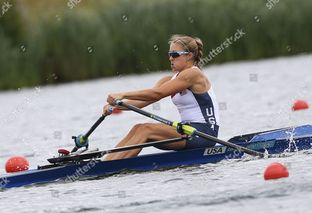 Usa's Genevra Stone in the Women's Single Sculls Quarterfinal During the London 2012 Olympic Games Rowing Competition at the Eton Dorney Rowing Centre Near the Village of Dorney West of London Britain 31 July 2012 United Kingdom Dorney