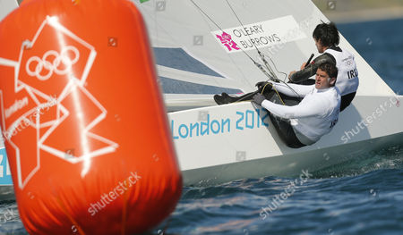 Ireland Star Class Sailing Crew Peter O'leary and David Burrows During the Second Race of the Class For the London 2012 Olympic Games Sailing Competition in Weymouth Britain 29 July 2012 the Irish Team Finish Second After Two Races United Kingdom Weymouth