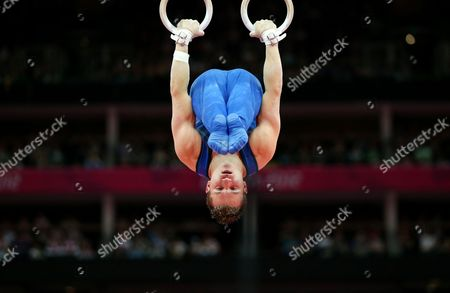 Usa's Jonathan Horton on Rings During the Gymnastics Artistic Competition at the London 2012 Olympic Games in London Britain 28 July 2012 United Kingdom London