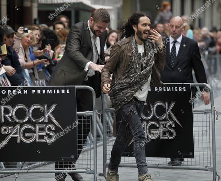 Russel Brand (c) Arrives For the European Premier of Rock of Ages at the Odeon Theatre in London Britain 10 June 2012 United Kingdom London