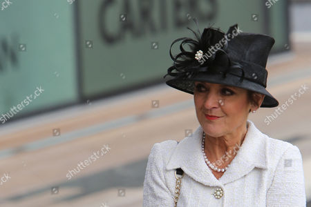 Iris Robinson Wife of Northern Ireland's First Minister Peter Robinson Looks on After Greeting Queen Elizabeth Ii at the Titanic Building on June 27 2012 in Belfast Northern Ireland Mrs Robinson was Making a Rare Public Appearance After Announcing in December 2009 That She Would Leave Politcs and Withdraw From Public Life Following Long Periods of Illness United Kingdom Belfast