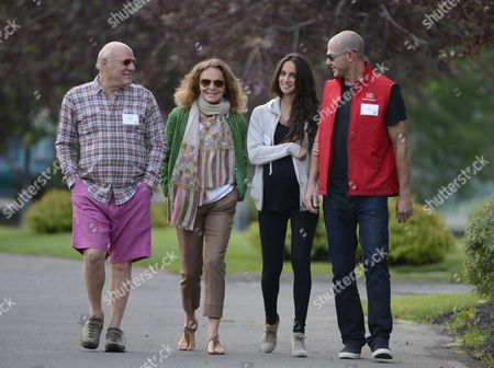 Barry Diller (l) Chairman of Iac/interactivecorp His Wife Designer Diane Von Furstenberg Ali Kay (2-r) and Alex Von Furstenberg (r) Son of Fashion Designer Diane Von Furstenberg Attend Day Four of the Allen & Company's 30th Annual Media and Technology Conference in Sun Valley Idaho Usa 13 July 2012 the Event Brings Together the Leaders of the Worlds of Media Technology Sports Industry and Politics United States Sun Valley