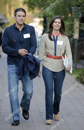 Erin Burnett Cnn News Anchor Along with Her Fiance Citigroup Executive David Rubulotta Attend Day Three of the Allen & Company's 30th Annual Media and Technology Conference in Sun Valley Idaho Usa 12 July 2012 the Event Brings Together the Leaders of the Worlds of Media Technology Sports Industry and Politics United States Sun Valley