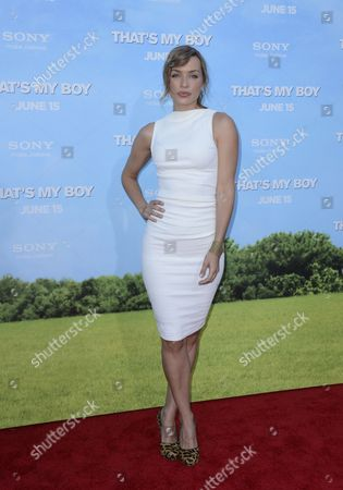 Canadian Actress and Cast Member Rebecca Marshall Arrives For the World Premiere of 'That's My Boy' in Los Angeles California Usa 04 June 2012 United States Los Angeles