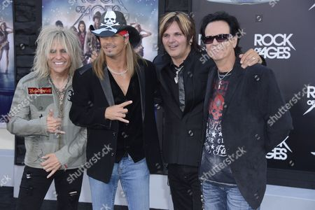 Us Band Poison C C Deville (l) Bret Michaels (2-l) Rikki Rocket (2-r) and Bobby Dall (r) Arrive For the World Premiere of 'Rock of Ages' at Grauman's Chinese Theatre in Hollywood California Usa 08 June 2012 United States Hollywood