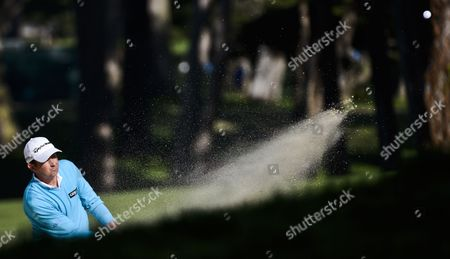 Peter Lawrie of Ireland Hits out of a Sand Trap During the First Round of the 2012 Us Open Golf Tournament at the Olympic Club in San Francisco California Usa on 14 June 2012 United States San Francicso