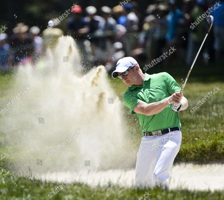 Simon Dyson of England Hits out of a Sand Trap by the Seventh Green During the Third Round of the 2012 Us Open Golf Tournament at the Olympic Club in San Francisco California Usa on 16 June 2012 United States San Francicso