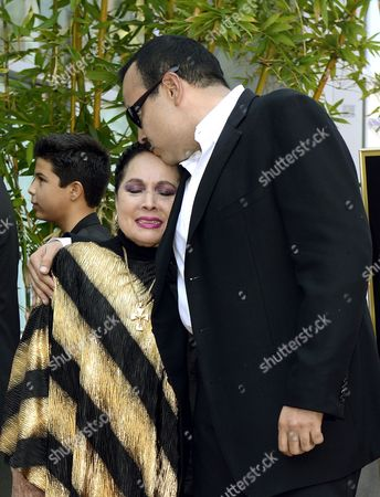 Mexican Musician Pepe Aguilar (r) Kisses His Mother Flor Silvestre (l) During a Ceremony Honoring Him with a Star on the Hollywood Walk of Fame in Hollywood California Usa 26 July 2012 Aguilar Considered by Critics As a 'Latin Music Superstar' is a Multiply Grammy and Latin Grammy Winner and His Recordings Have Sold Over 12 Million Copies United States Hollywood