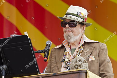 Stock Picture of New Orleans Musician Malcolm John 'Mac' Rebennack Jr Better Known by the Stage Name Dr John Performs on the Acura Stage on Day Three of the New Orleans Jazz and Heritage Festival at the New Orleans Fair Grounds Race Course in New Orleans Louisiana Usa 29 April 2012 the New Orleans Jazz and Heritage Festival Celebrates It's 43rd Anniversary This Year with 12 Different Stages in an Annual 10-day Cultural Celebration That Encompasses Every Style of Music Associated with the City of New Orleans That Includes Jazz Gospel Cajun Zydeco Blues Rhythm and Blues Rock Funk African Latin Caribbean Folk and Much More in Addition to Local Cuisine Culture Arts and Crafts United States New Orleans