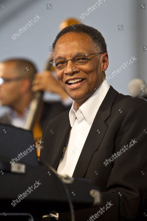 Stock Picture of Us Jazz Composer Pianist and Radio Personality Ramsey Lewis Performs on the Wwoz Jazz Stage on Day Three of the New Orleans Jazz and Heritage Festival at the New Orleans Fair Grounds Race Course in New Orleans Louisiana Usa 29 April 2012 the New Orleans Jazz and Heritage Festival Celebrates It's 43rd Anniversary This Year with 12 Different Stages in an Annual 10-day Cultural Celebration That Encompasses Every Style of Music Associated with the City of New Orleans That Includes Jazz Gospel Cajun Zydeco Blues Rhythm and Blues Rock Funk African Latin Caribbean Folk and Much More in Addition to Local Cuisine Culture Arts and Crafts United States New Orleans