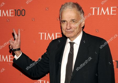 Us Politician Ralph Nader Arrives For the Time 100 Gala to Celebrate Time Magazine's List of the 100 Most Influential People in the World in New York New York Usa 24 April 2012 United States New York
