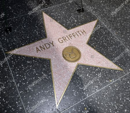The Star on the Hollywood Walk of Fame For Us Actor Andy Griffith in Hollywood California Usa 03 July 2012 the Popular Actor Known For His Role As Sheriff Andy Taylor in the Andy Griffith Show Died Today at the Age of 86 at His North Carolina Home United States Hollywood