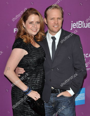 American Actress Jenna Fischer and Husband and Director Lee Kirk Arrive to the World Premiere of the Film 'The Giant Mechanical Man' at the 2012 Tribeca Film Festival in New York Usa 23 April 2012 the Tribeca Film Festival Runs Through 29 April 2012 United States New York