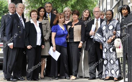 Bereaved Family Members of 7/7 Bombings Including Ross Morely John Taylor Marie Fatayi- Williams Graham Foulkes Clifford Tibber Esther Hyman Graham Russell and Nader Hozakka Attend a Press Conference in London Britain 06 May 2011 Delays in the Emergency Services' Response to the 7/7 London Bombings Did not Cause the Death of Any of the 52 People Killed the Coroner Said 06 May But in Concluding the Inquests Into the Deaths Lady Justice Hallett Criticised Lapses in the Actions of the Emergency Services and of Mi5 She Also Formally Ruled That the Victims Had Been Unlawfully Killed More Than 700 People Were Injured in the Four Suicide Attacks in 2005 United Kingdom London