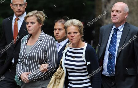 The Family of Murdered Schoolgirl Milly Dowler From Left to Right Sisiter Gemma Dowler Mother Sally Dowler and Father Bob Dowler Arrive at the British Prime Minister's Residence 10 Downing Street to Meet with Prime Minister David Cameron in London Britain 13 July 2011 the Dowler Family Met Prime Minister Cameron to Discuss the Government's Response to Phone Hacking Milly's Parents Are Suing the News of the World Over Claims Their Daughter's Phone was Hacked when She Went Missing in 2002 Reports of Milly Dowler's Phone Being Hacked Kicked Off a Public Outrage Which Has Resulted in the Newspaper's Closure and the Announcement by the Prime Minister of a Public Inquiry Into the Scandal United Kingdom London