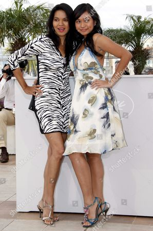 L-r Filipino Actress Maria Isabel Lopez and Actress Mercedes Cabral Attend the Photocall For the Philippino Film 'Kinatay' by Brilliante Mendoza Running in Competition in the 62nd Edition of the Cannes Film Festival in Cannes France 17 May 2009