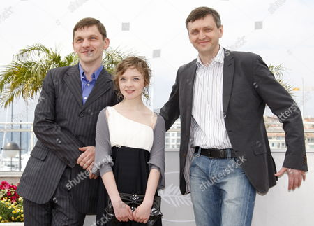 (l-r) Actor Viktor Nemets Actress Olga Shuvalova and Ukrainian Director Sergei Loznitsa Pose During the Photocall of the Movie 'Schastye Moe' (my Joy) During the 63rd Cannes Film Festival in Cannes France 19 May 2010 the Movie by Sergei Loznitsa is Presented in Competition at the Cannes Film Festival 2010 Running From 12 to 23 May France Cannes