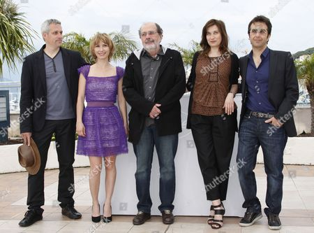 (l-r) Members of the Cinefondation Jury Spanish Director Marc Recha Russian Actress Dinara Droukarova Brazilian Director and Producer Carlos Diegues French Actress Emmanuelle Devos and Canadian Director Atom Egoyan Pose During a Photocall During the 63rd Cannes Film Festival in Cannes France 19 May 2010 the Cannes Film Festival 2010 Runs From 12 to 23 May France Cannes