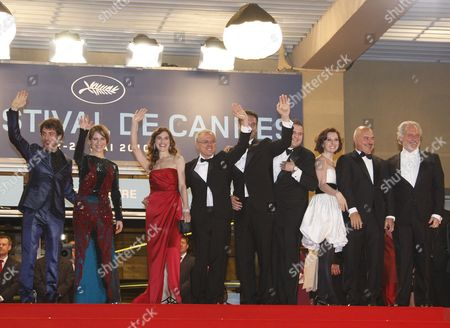(l-r) Italian Actor Elio Germano Italian Actress Isabella Ragonese Italian Actress Stefana Montorsi Italian Director Daniele Luchetti Italian Actor Raoul Bova Actor Marius Ignat Actress Alina Berzenteanu Italian Actor Luca Zingaretti and Actor Giorgio Colangeli Arrive For the Screening of the Movie 'La Nostra Vita' (our Life) During the 63rd Cannes Film Festival in Cannes France 20 May 2010 the Movie by Daniele Luchetti is Presented in Competition at the Cannes Film Festival 2010 Running From 12 to 23 May France Cannes