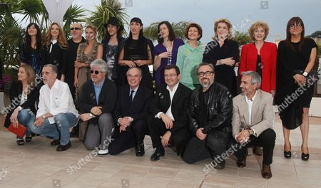 Stock Image of Spanish Minister of Culture Angeles Gonzalez Sinde (top 7-l) and French Minister of Culture Frederic Mitterrand (bottom 4-l) Pose with Spanish Actresses Pilar Lopez (top 2-l) Elsa Pataky (top 4-l) Rossy De Palma (top 6-l) Marisa Paredes (top 2-r) Spanish Directors Spanish Director Isabel Coixet (top R) Alejandro De La Iglesia (bottom 2-r) Fernando Trueba (bottom 2-l) Pedro Almodovar (bottom 3-l) French Actress Catherine Deneuve (3-r) and European Commissioner For Culture Androulla Vassiliou (top 4-r) During a Photocall at the 63rd Cannes Film Festival in Cannes France 15 May 2010 the Cannes Film Festival 2010 Running From 12 to 23 May Celebrates Spanish Cinema at the Initiative of French Minister of Culture Frederic Mitterrand who Has Invited His Spanish Counterpart and Several Contemporary Spanish Artists France Cannes