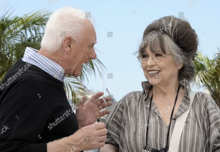 Stock Photo of British Actor Malcolm Mcdowell (l) and Stanley Kubrick's Widow Christiane Kubrick (r) Pose During the Photocall For 'Cannes Classics Masterclass' at the 64th Cannes Film Festival in Cannes France 20 May 2011 the Movie 'Clockwork Orange' by Stanley Kubrick is Presented in the 'Cannes Classics' Section of the Film Festival Running From 11 to 22 May France Cannes