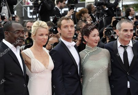 Jury Members (l-r) Chadian Director Mahamat Saleh Haroun Norwegian Writer Linn Ullmann British Actor Jude Law Hong Kong Producer Nansun Shi and French Director Olivier Assayas Arrive For the Screening of 'Pirates of the Caribbean: on Stranger Tides' During the 64th Cannes Film Festival in Cannes France 14 May 2011 the Movie by Us Director Rob Marshall is Presented out of Competition at the Film Festival Running From 11 to 22 May France Cannes