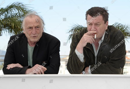 Finnish Director Aki Kaurismaki (r) and French Actor Andre Wilms (l) Pose During the Photocall For 'Le Havre' at the 64th Cannes Film Festival in Cannes France 17 May 2011 the Movie by Aki Kaurismaki is Presented in the Official Competition of the Film Festival Running From 11 to 22 May France Cannes