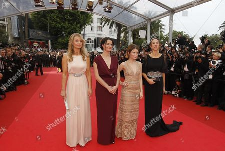 (l-r) Australian Actress Rachael Blake Director Julia Leigh Actress Emily Browning and Producer Jessica Brentnall Arrive For the Screening of 'Sleeping Beauty' During the 64th Cannes Film Festival in Cannes France 12 May 2011 the Movie by Julia Leigh is Presented in the Official Competition of the Film Festival Running From 11 to 22 May France Cannes