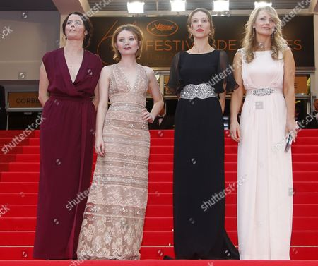 (l-r) Australian Director Julia Leigh Actress Emily Browning Producer Jessica Brentnall and Actress Rachael Blake Arrive For the Screening of 'Sleeping Beauty' During the 64th Cannes Film Festival in Cannes France 12 May 2011 the Movie by Australian Director Julia Leigh is Presented in the Official Competition of the Film Festival Running From 11 to 22 May France Cannes