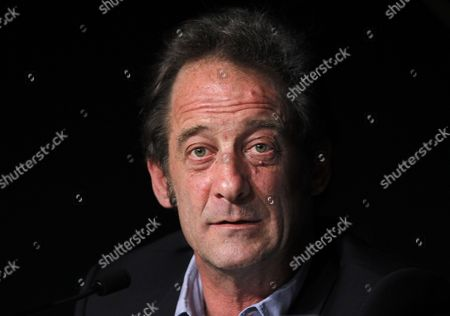 French Actor Vincent Lindon Attends the Press Conference For 'Pater' During the 64th Cannes Film Festival in Cannes France 18 May 2011 the Movie by French Director Alain Cavalier is Presented in the Official Competition of the Film Festival Running From 11 to 22 May France Cannes